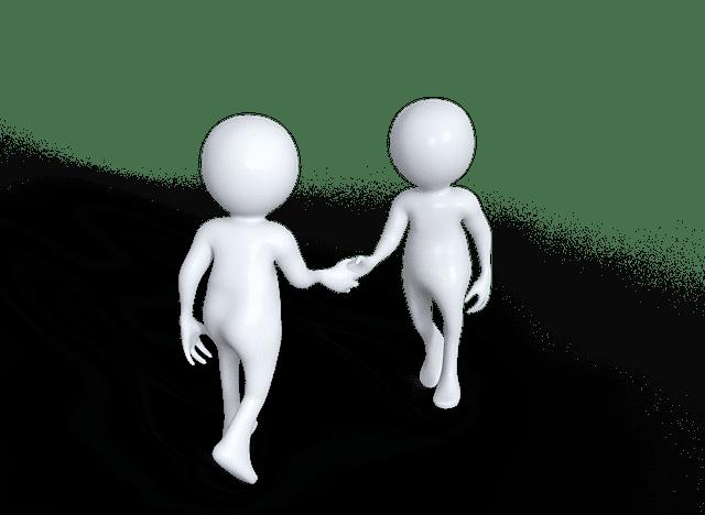 握手する画像です。